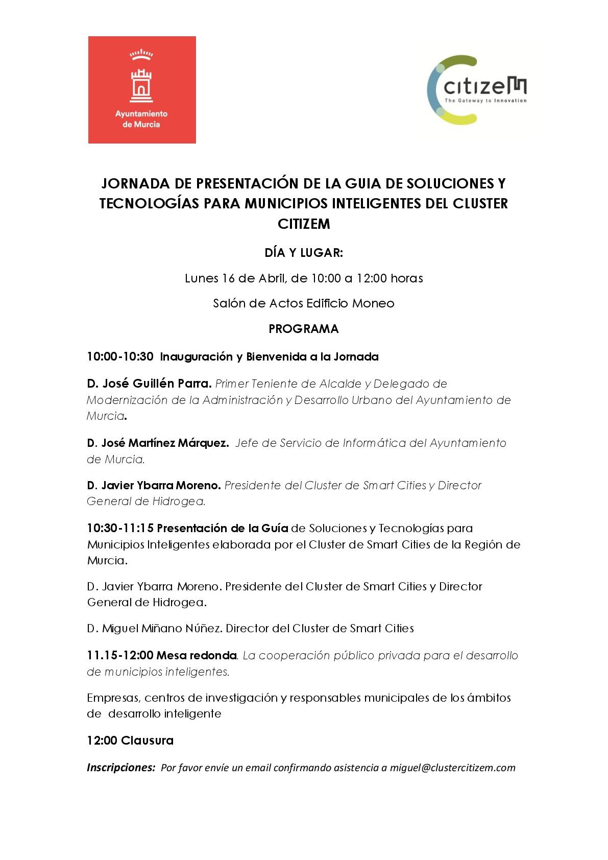CitizeM, el Cluster de Smart Cities de la Región de Murcia presenta su guia de soluciones Smart City