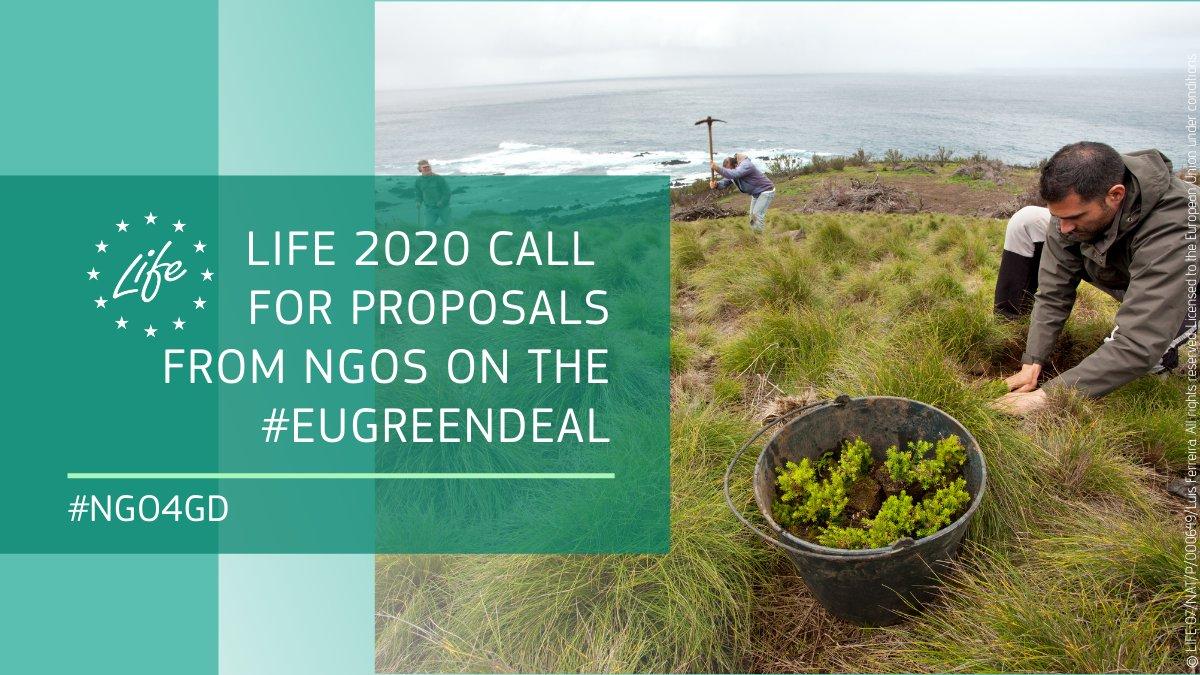 Programa LIFE para ONG en implementación del Pacto Verde Europeo (NGO4GD)