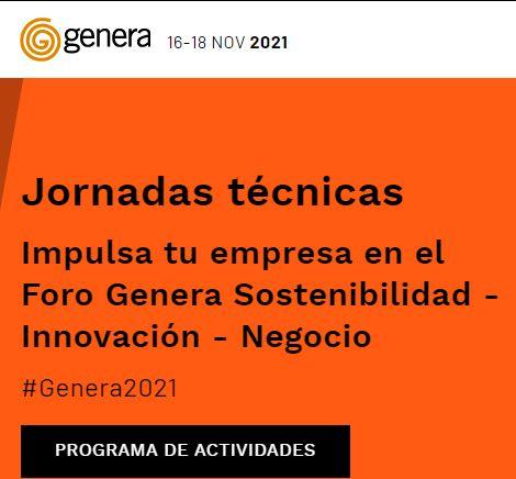 GENERA 2021: del 16 al 18 de noviembre de 2021 en Madrid